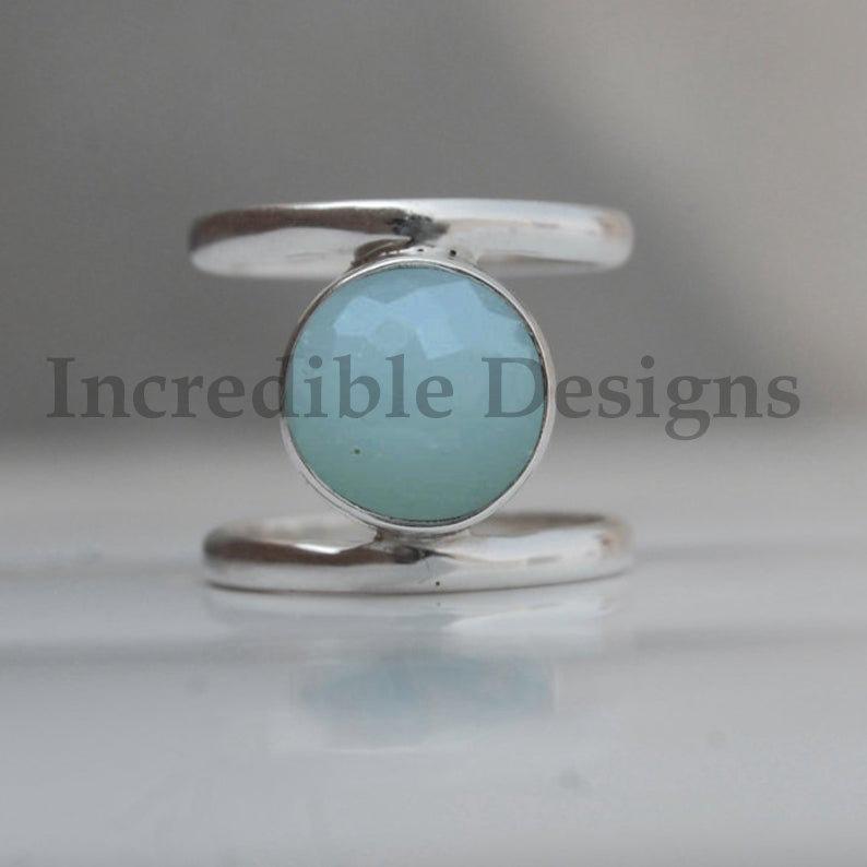 Chalcedony ring,Gemstone ring,Handmade ring,Statement ring,Silver ring,925 Silver ring,