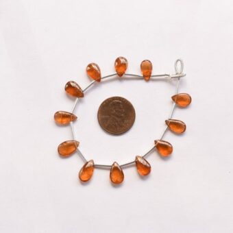 Reasonable Price Wholesale Cab Beads 15pc NATURAL SUNSTONE SMOOTH Pear Shape Flat Drops Natural Gemstone Cabochon Face Drill Beads Line